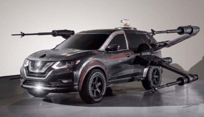 It's an SUV and an X-wing Fighter. (Source: Nissan via CNN)