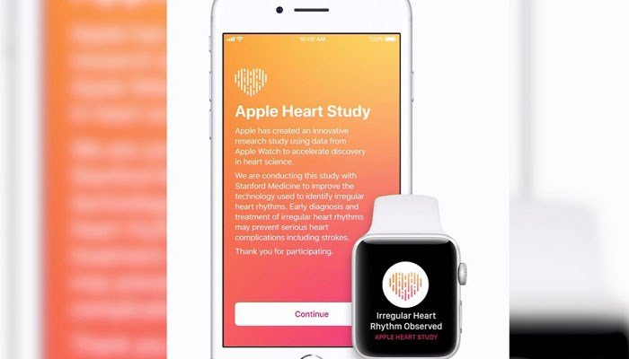 Participants will be notified through their Apple Watch and iPhone if they have an irregular heart rate. (Source: Apple/CNN)