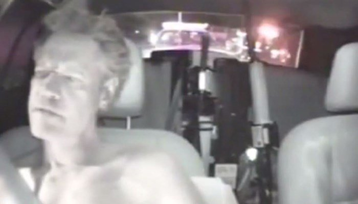 In dashcam video from 2012, the country singer had just crashed his car and became belligerent to the officer on the scene. (Source: Texas Department of Public Safety/KXII/CNN)