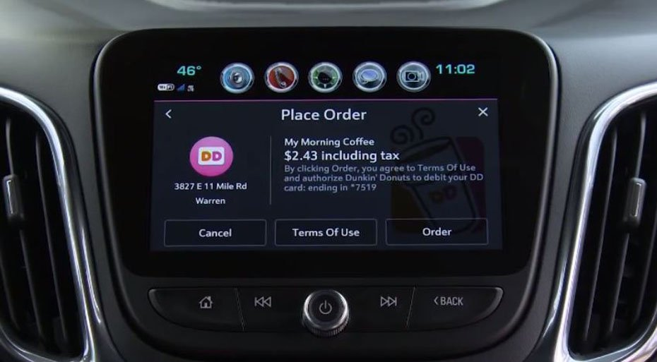 New app from GM makes it easier to order from your car while you're on the go. (Source: General Motors/CNN)