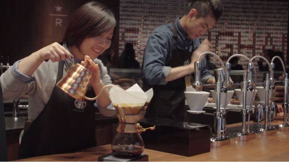 The beans are roasted at the 30,000-square-foot store, and the coffee is meant to be an experience. (Source: Starbucks/CNN)