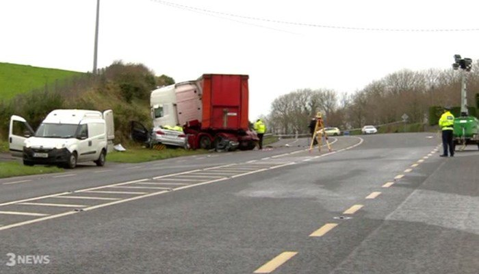 A couple in their 70s and their two grown sons in their 40s died in a crash in Ireland. They had arrived in the country to attend a funeral. (Source: TV3/CNN)