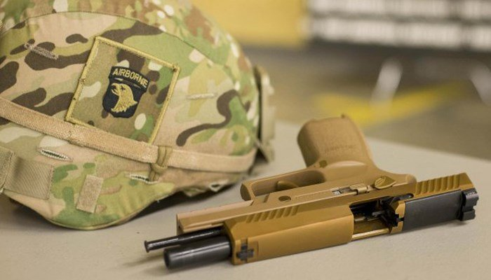 The Army's new standard secondary weapon has a slimmer handle and a better trigger than the previous weapon, the Beretta M9. (Source: U.S. Army/101st Airborne)