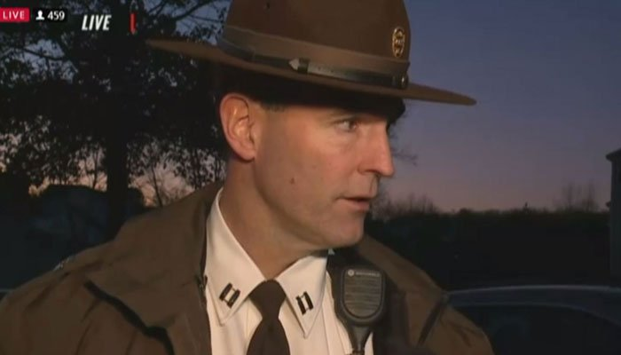 The suspect was pronounced dead at the hospital, Jefferson County Sheriff Capt. Gary Higgenbotham said on Tuesday.  (Source: KTVI/CNN)
