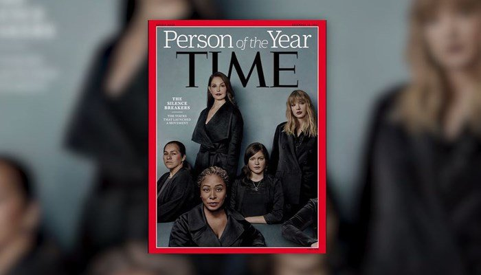 Time's cover features a group of women dubbed 'The Silence Breakers,' including one woman whose face doesn't appear. (Source: Time magazine/CNN)