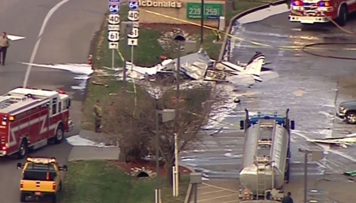 The pilot was pronounced dead at the scene. (Source: KTVI/CNN)