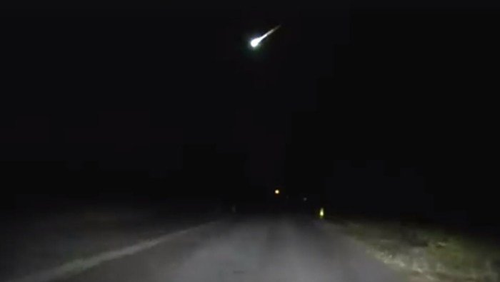 The Township of Hamilton Police Department in New Jersey posted video of the meteor to its Facebook account Thursday. (Source: Township of Hamilton PD/Facebook)