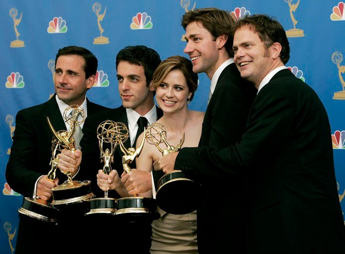 """NBC wants to bring back the Emmy-winning show """"The Office"""" after the successful revival of """"Will & Grace."""" (Source: AP Photo/Laura Rauch)"""