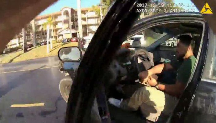 Video shows police officer dragged by vehicle