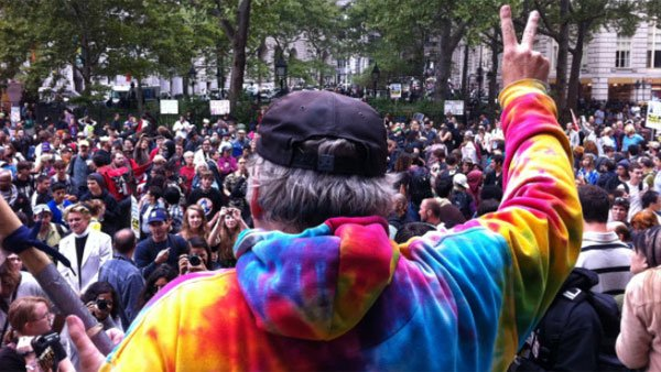 The Occupy Wall Street movement encourages peaceful protesting. (Source: CNN)