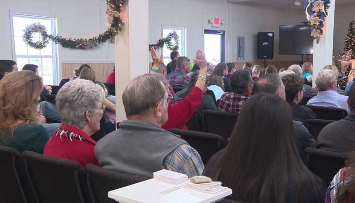 Members of First Baptist Sutherland Springs is living with memories of that horrific day, but on Christmas, the pastor told them to look to light and hope. (Source: KSAT/CNN)