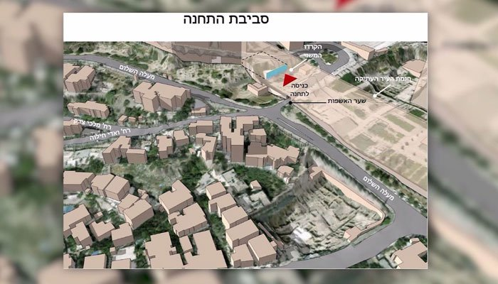 The station will be located feet from the Western Wall. (Source: Israeli Ministry of Transportation/CNN)