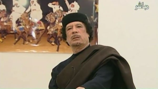 Moammar Gadhafi, 69, ruled Libya for 42 years before his death on Thursday. (Source: Libyan State TV/CNN)