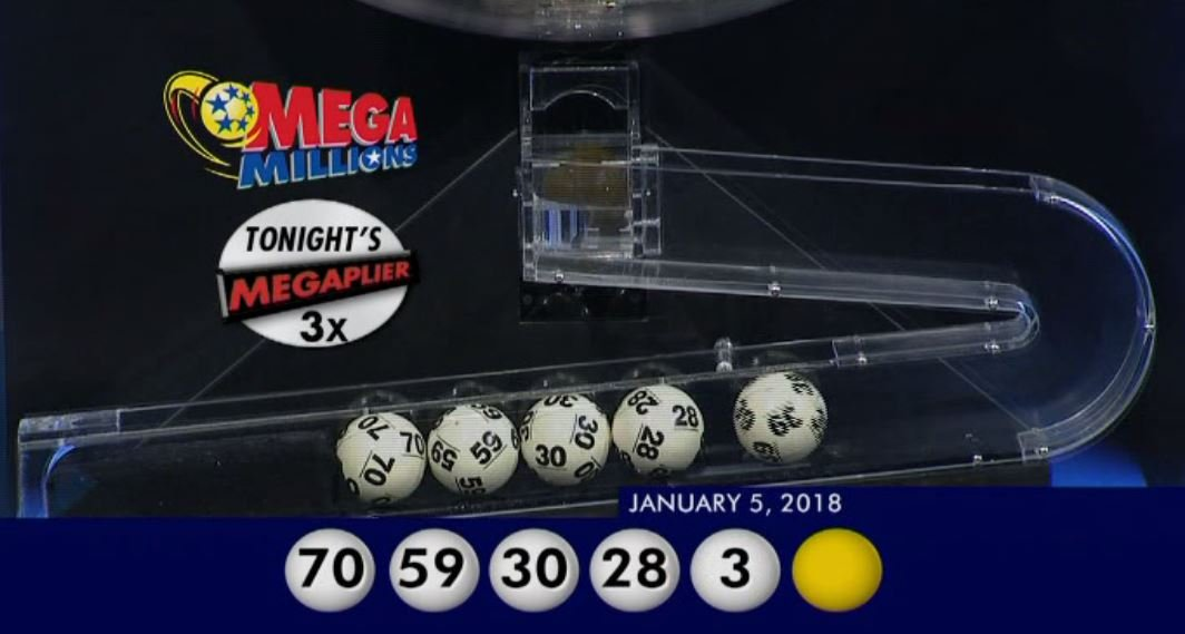 The winning numbers were 28, 30, 39, 59, 70, with the Mega Ball, 10. (Source: CNN)