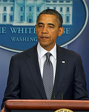 President Barack Obama announces the end of the Iraq War in the White House briefing room. (Source: CNN)