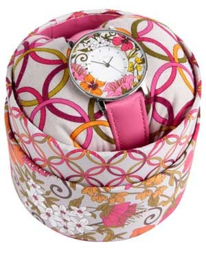 One hundred percent of the net proceeds from Vera Bradley's Hope Watch benefit the Vera Bradley Foundation for Breast Cancer.