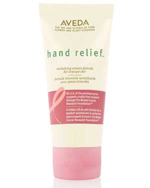 Aveda Hand Relief for Breast Cancer Awareness donates $4 of the sales to the Breast Cancer Research Foundation (BCRF.)
