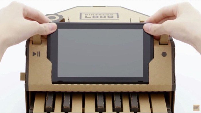 One is a cardboard piano that holds a console and controllers. Another of Nintendo's