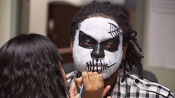 Some individuals choose to paint their faces for Day of the Dead celebrations. (Source: WECT)