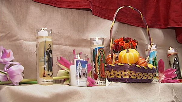 Altars like this one greet the souls of loved ones upon their return from the dead. (Source: WECT)