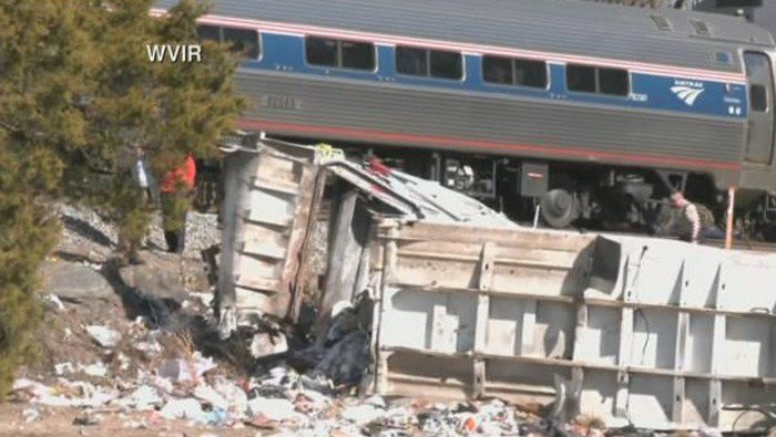The two people in the garbage truck that hit the train are seriously injured. GOP lawmakers for the most part are OK, some minor injuries. (Source: WVIR/CNN)