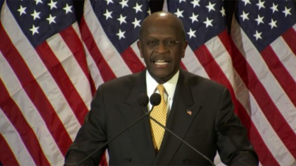 Presidential candidate Herman Cain is the former CEO of Godfather's Pizza. (Source: CNN)