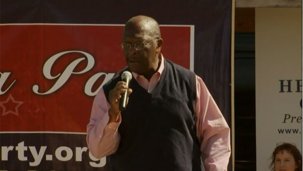 Cain addresses voters while out on the campaign trail. (Source: CNN)