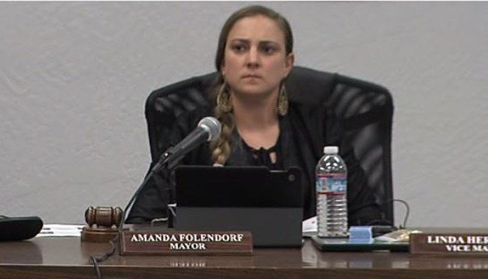 Not only is Amanda Folendorf the youngest mayor Angels Camp, CA, has ever had, she's the first deaf female mayor in the United States. (Source: KTXL/CNN)