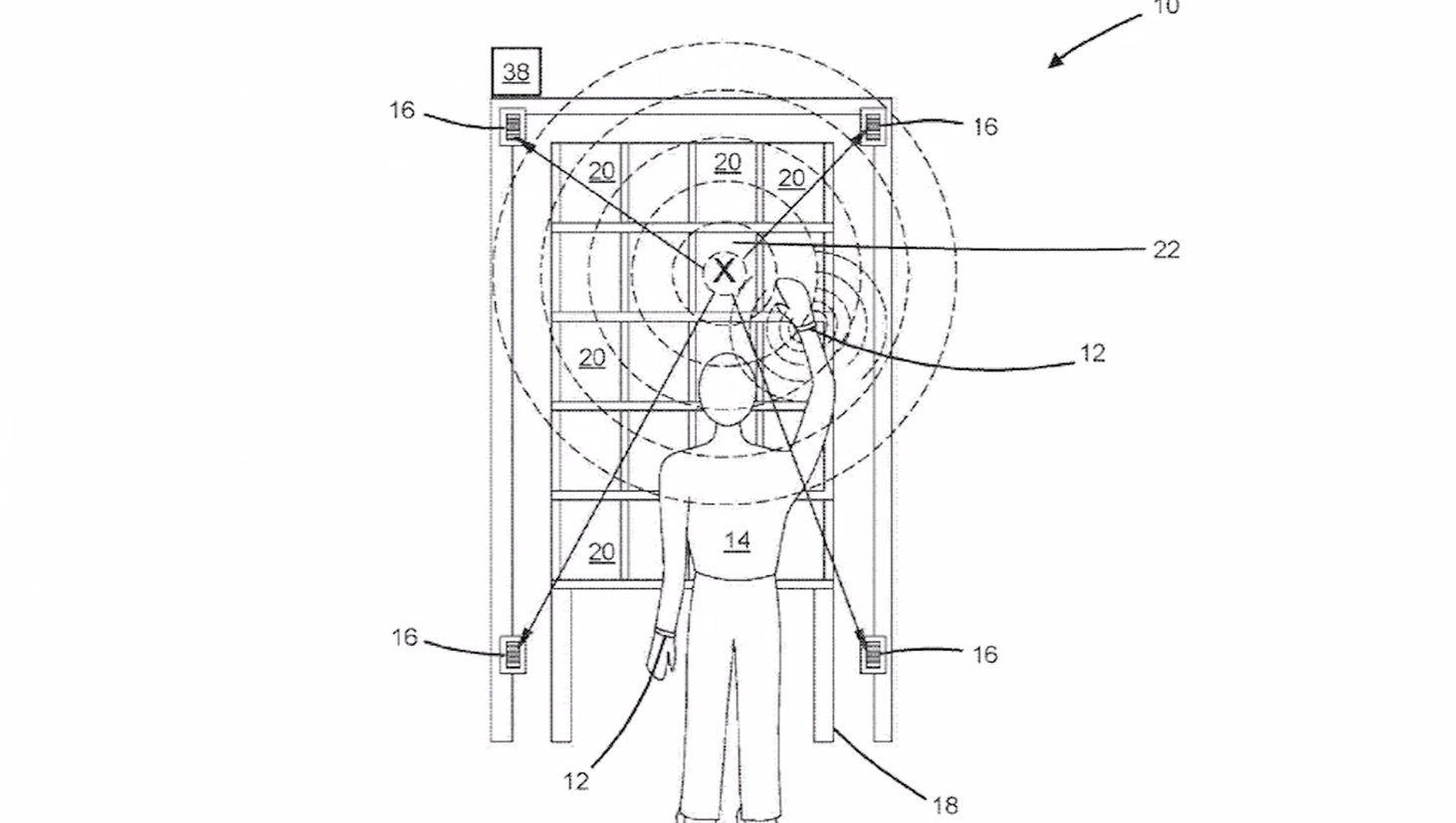 Amazon has patented a wristband capable of tracking employees' locations and movements. (CNN/Amazon/U.S. Patent and Trademark Office)
