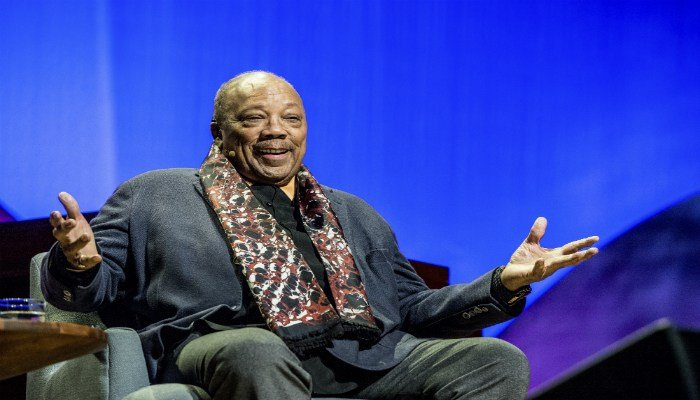 Quincy Jones seen on day one of Summit LA17 in Downtown Los Angeles's Historic Broadway Theater District on Friday, Nov. 3, 2017, in Los Angeles. (Photo by Amy Harris/Invision/AP)