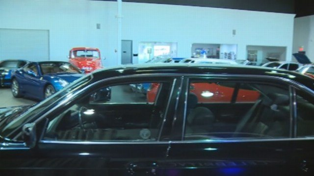 The black, four-door BMW where Tupac Shakur was killed, on Sept. 7, 1996, is for sale with a 7-digit price tag. (Source: (KTNV/MGM Grand/CNN)