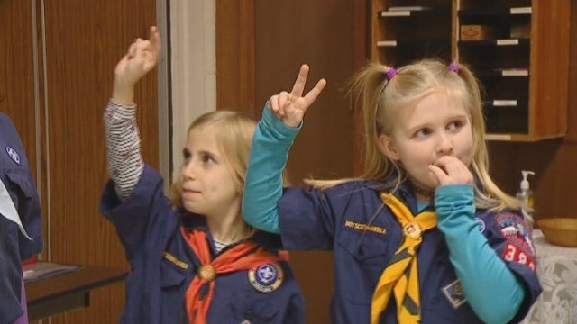 Four girls in independence, Missouri became some of the first in the country to join the Boy Scouts of America. (Source: WDAF/CNN)