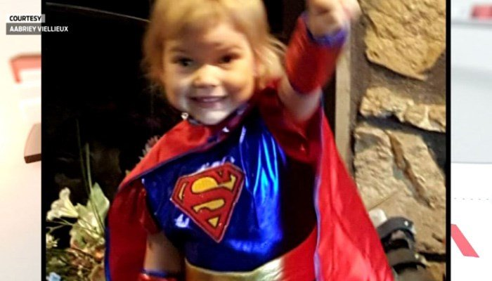 Alivia Viellieux, 3, died at her home, after a hospitalization for influenza. The Delaware County coroner says she died from pneumonia. (Source: Family photo/WISH/CNN)
