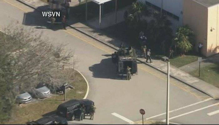 Reports of shots fired with injuries at a high school in Parkland, FL. (Source: CNN)