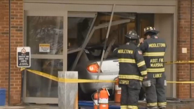 Officials give press conference after auto crashes into ER at Middlesex Hospital