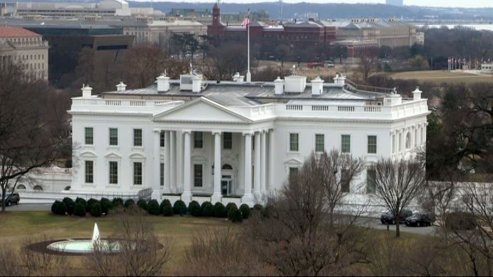 A woman driving a vehicle near the White House hit a security barrier. (Source: Raycom Media)