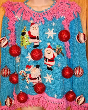 Ann Marie Blackman started My Ugly Christmas Sweater for all your Ugly Christmas Sweater party needs. (Source: My Ugly Christmas Sweater)