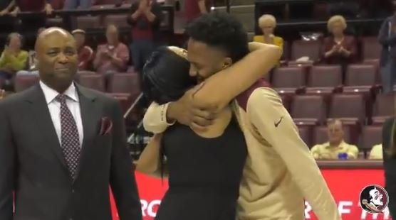 Angola last talked to his mother Friday when she told him to play hard, have fun and call her after the game. (Source: Florida State Athletics)