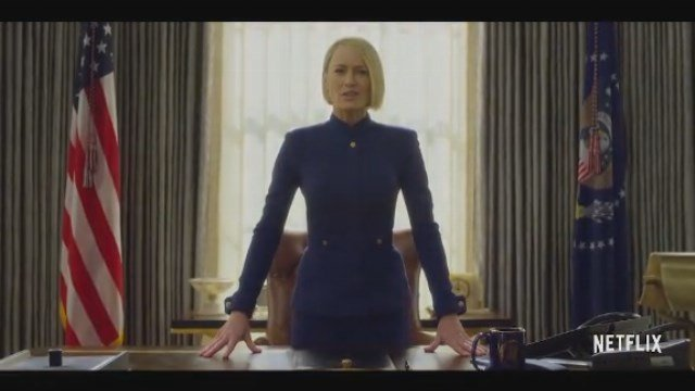 Robin Wright takes the lead in the 'House of Cards' Season six teaser trailer. (Source: Netflix/CNN)