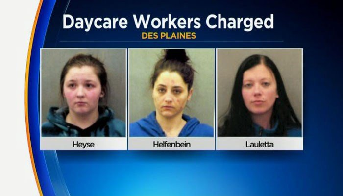 """Three teachers were using melatonin-laced gummy bears to """"facilitate"""" the 2-year-olds' naps, according to the police chief. (Source: Des Plaines Police/WBBM/CNN)"""