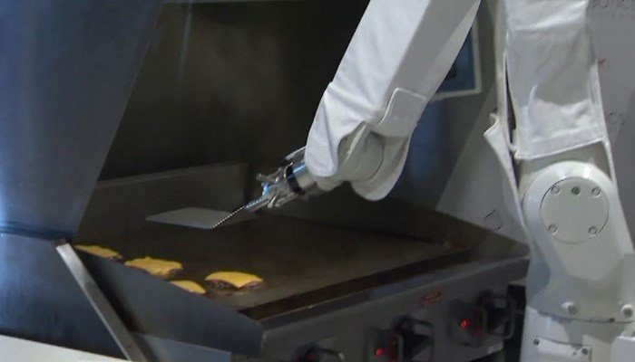 The more patties, the robot flips, the smarter it gets. In addition, the company says the robot can cut down on costs and employee turnover. (Source: KTLA/CNN)