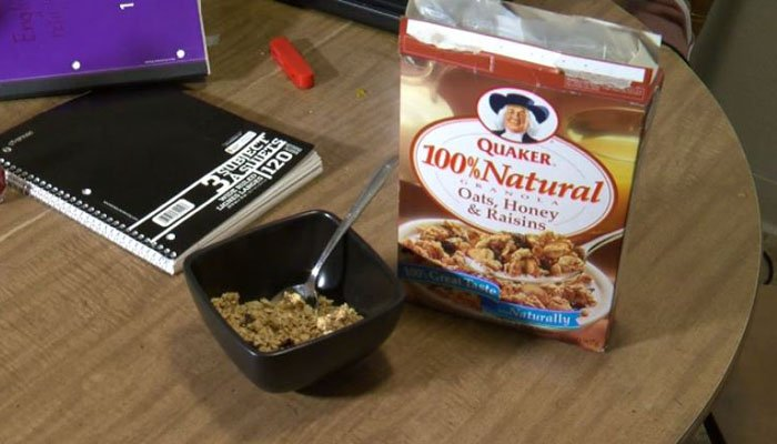 "The family says it wasn't until they sat down for a serving that they noticed the cereal had a ""best by"" date of 1997. (Source: KMGH/CNN)"