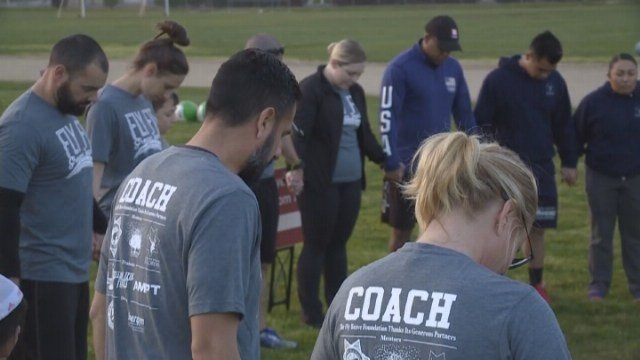 Those involved said it's a win-win situation, with the children getting more outside time, and the police getting a better understanding of autism. (Source: KOVR)