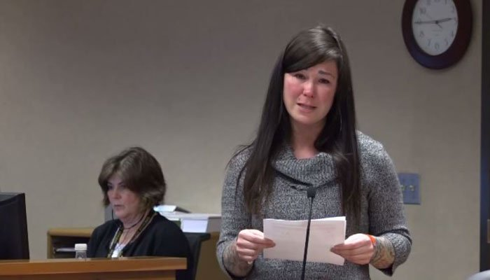 The woman pleaded guilty to one count of third-degree assault and 11 counts of first-degree criminal mistreatment in February. (Source: KTVZ/CNN)