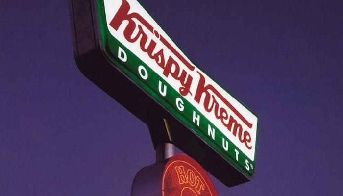 In the U.S., Krispy Kreme is releasing a green glazed doughnut for St. Patrick's Day. (Source: Krispy Kreme)