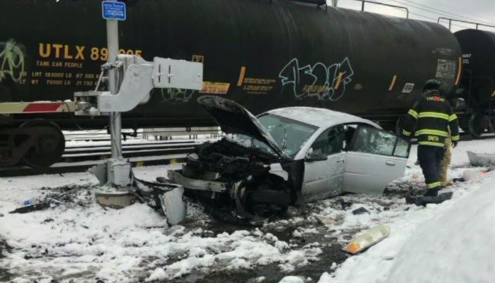 Police are investigating the crash that left Camden Davis unscathed. (Source: WNEP/ CNN)