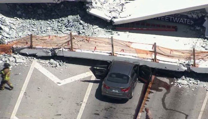 6 dead in Miami college pedestrian bridge collapse - | WBTV Charlotte