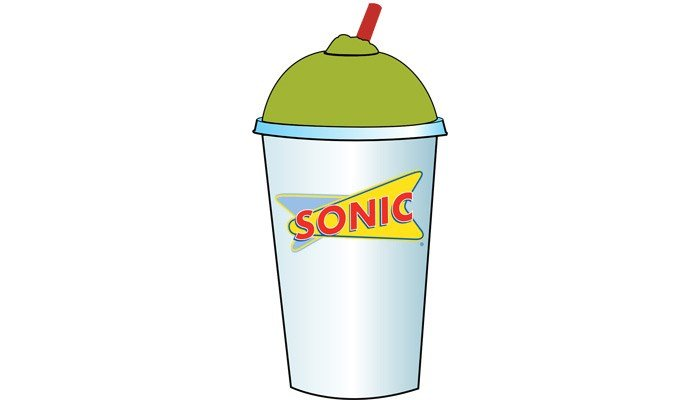 The pickle juice snow cone slush will make its debut at Sonic locations across the country in June. (Source: Sonic Drive-In)