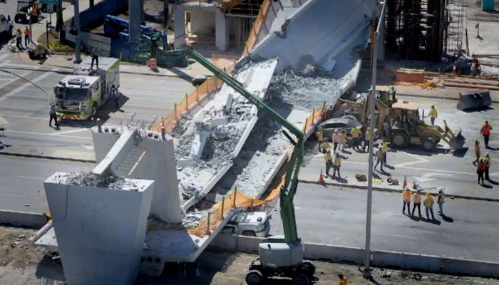 Two cars and three bodies were recovered from the wreckage, police said Saturday. (Source: Florida Transportation Department/CNN)