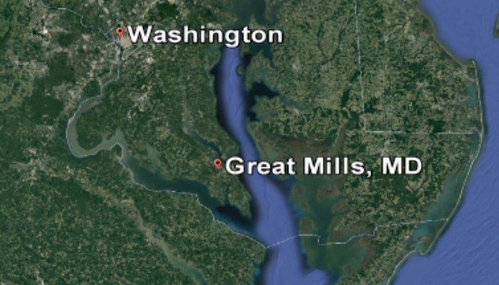 Great Mills High Schoolis located about 66 miles southeast of Washington, DC.(Google Earth/CNN)